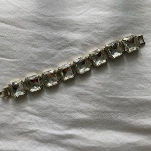 JCrew Clear Stone Bracelet